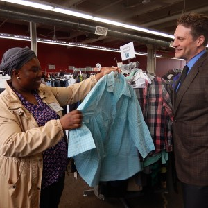 Richeline, Retail Foundations student, tours GLOW with Mario Gravelle, The Counselling Foundation of Canada